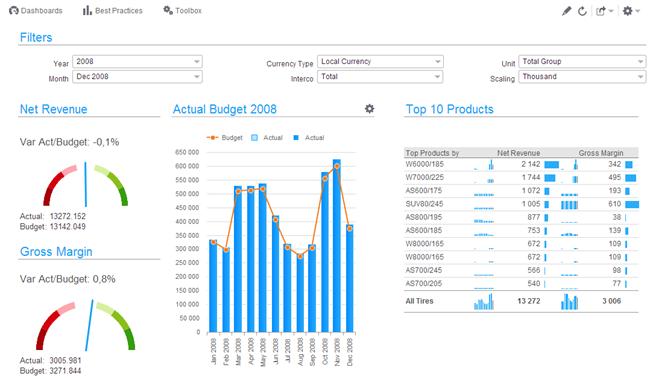 Infor d/EPM - iPad data analytics